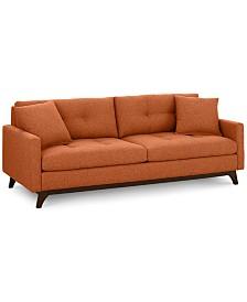"""Nari 89"""" Fabric Tufted Estate Sofa, Created for Macy's"""