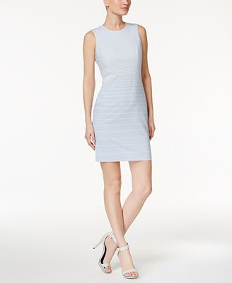 Calvin Klein Petite Striped Sheath Dress - Dresses - Petites - Macyu0026#39;s