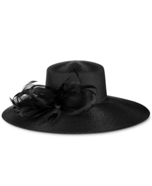 Retro Vintage Style Hats August Hats Iris Wide-Brim Hat $70.00 AT vintagedancer.com