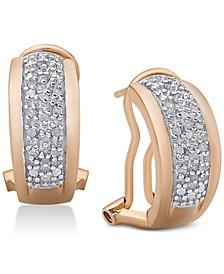 Diamond J-Hoop Earrings (1/4 ct. t.w.)