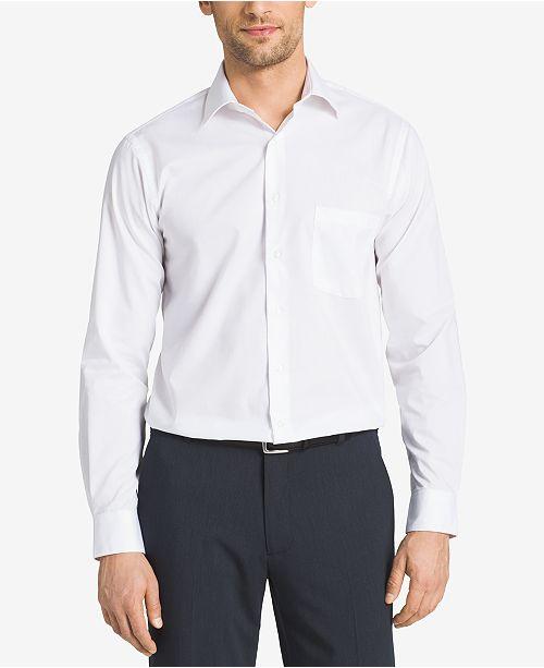 c58e8a7e25a7 Van Heusen Big and Tall Classic-Fit Solid Herringbone Dress Shirt ...