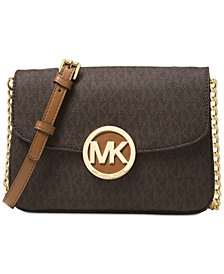 MICHAEL Michael Kors Signature Small Fulton Flap Gusset Crossbody