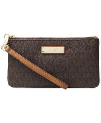 michael kors signature jet set item medium wristlet handbags rh macys com