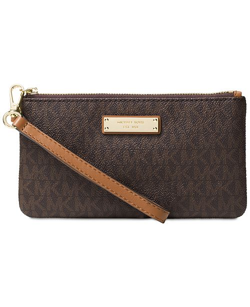 75204a815aa8 Michael Kors Signature Jet Set Item Medium Wristlet & Reviews ...