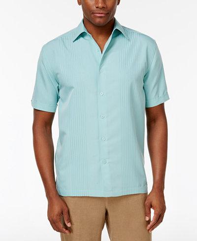 Cubavera Ombré Embroidered Short-Sleeve Shirt