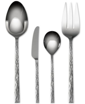 "Vera Wang Wedgwood ""Hammered"" 4-Piece Hostess Set 300801"