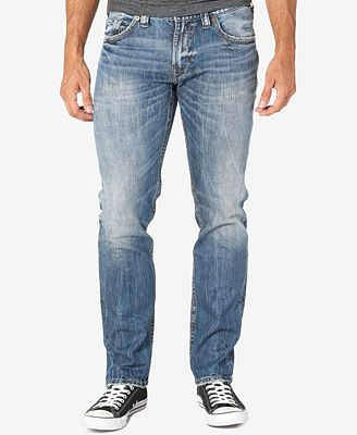 Mens Allan Jeans Silver Jeans Co