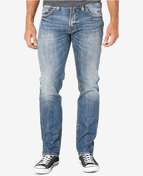 Mens Allan Slim Silver Jeans Co Outlet Best Store To Get ZNijUstmK9