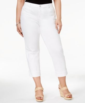 Image of Style & Co Plus Size Cuffed Capri Jeans, Only at Macy's