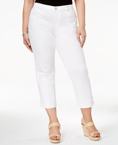 Style & Co Plus Size Cuffed Capri Jeans, Only at Macy's - Plus ...