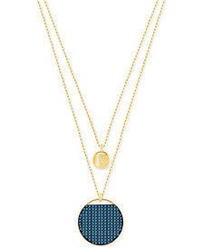 Swarovski Ginger Layered Polished and Pavé Pendant Necklace