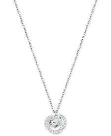 Swarovski Generation Silver-Tone Spiral Crystal Pendant Necklace