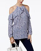 MICHAEL Michael Kors Cold-Shoulder Top Created for Macys