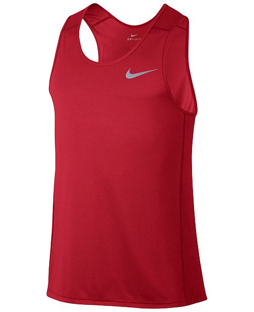 05baa13d90dc6 Nike Men s Dry Running Tank Top   Reviews - T-Shirts - Men - Macy s