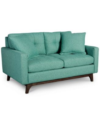 Nari Tufted Back Loveseat With 2 Toss Pillows, Created For Macyu0027s