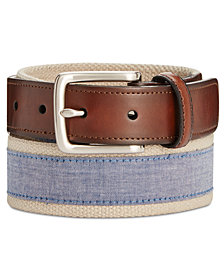 Club Room Men's Chambray Casual Belt, Created for Macy's