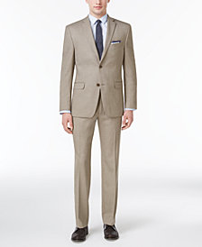 CLOSEOUT! Alfani Men's Slim-Fit Traveler Light Brown Neat Suit Separates, Created for Macy's