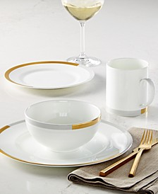 Castillon Gold/Gray Dinnerware Collection