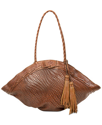 Patricia Nash Woven Trope Dome Extra Large Shoulder Bag