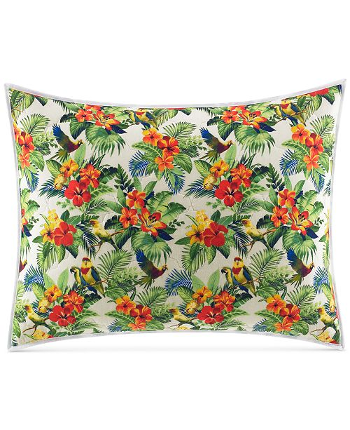 Tommy Bahama Home Parrot Cove Cotton Quilted King Sham