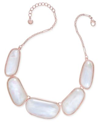 Image of Charter Club Large Shell-Finish Stone Statement Necklace, Only at Macy's