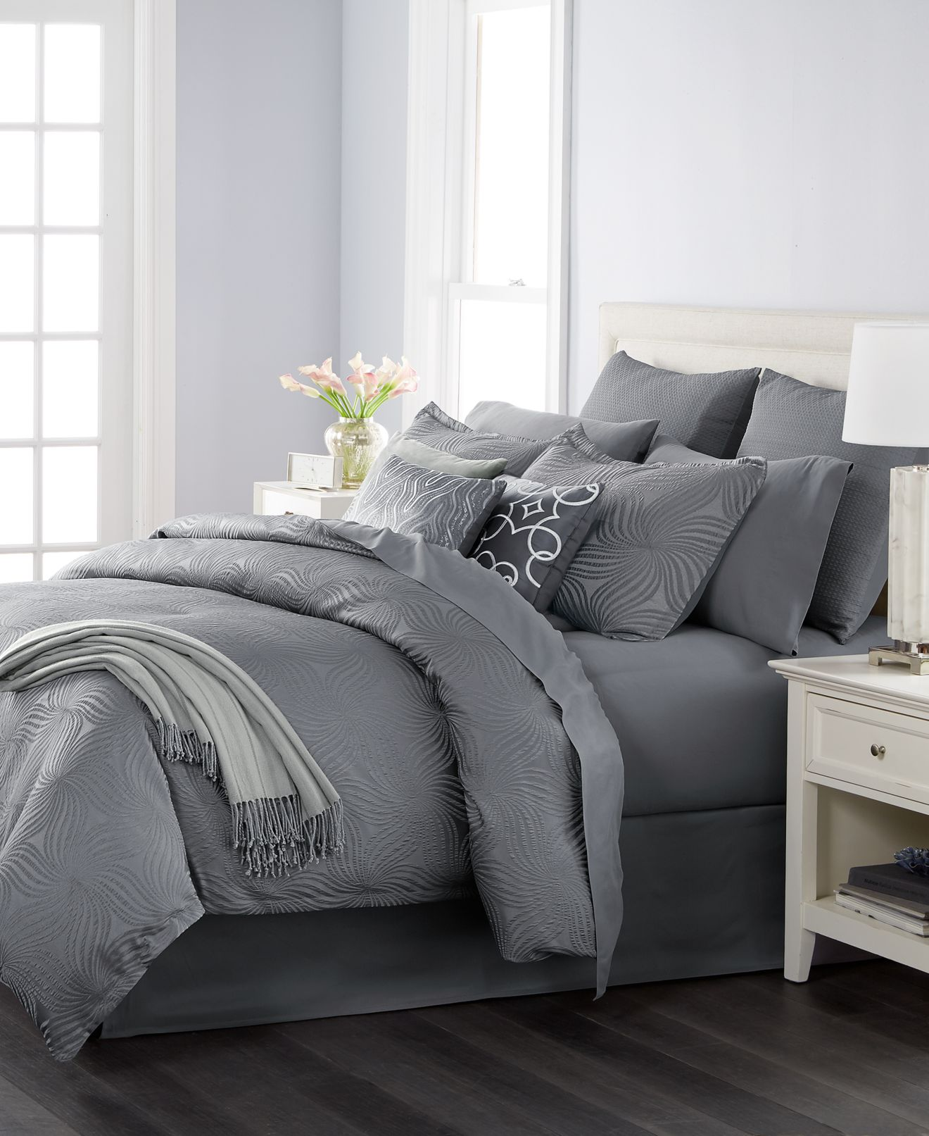 bed in a bag and comforter sets queen king more macy s martha stewart collection juliette graphite 14 pc comforter sets created for macy s