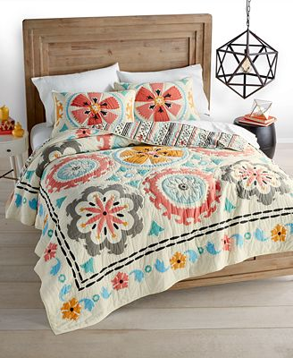 Whim by Martha Stewart Collection Desert Daisy Cotton Quilt and Sham Collection, Only at Macy's