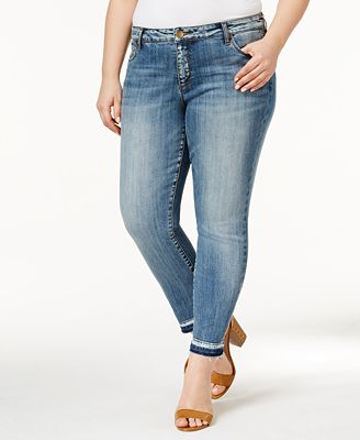 Kut from the Kloth Plus Size Reese Motive Wash Straight-Leg Ankle ...