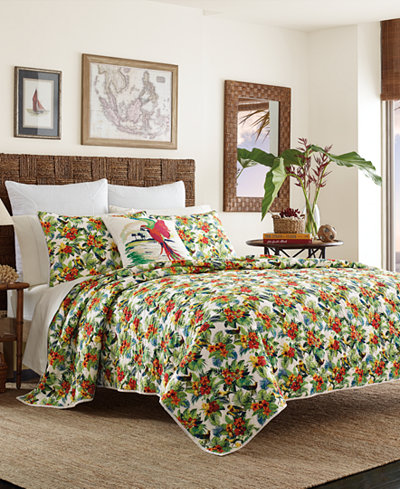 Tommy Bahama Home Parrot Cove Cotton King Quilt