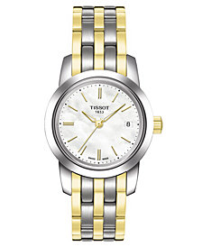 Tissot Women's Swiss Classic Dream Two Tone Stainless Steel Bracelet Watch T0332102211100