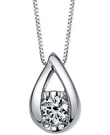 Diamond Pendant Necklace (1/2 ct. t.w.) in 14k White Gold