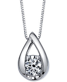 Sirena Diamond Pendant Necklace (1/2 ct. t.w.) in 14k White Gold