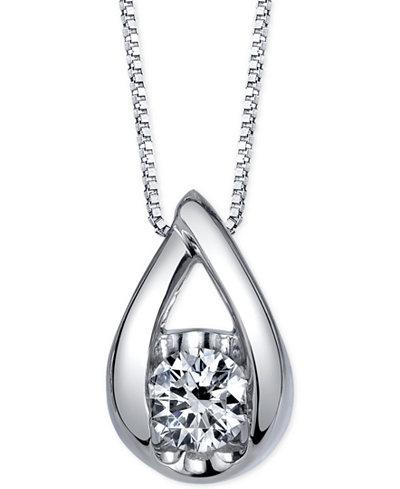Sirena Diamond Pendant Necklace (1/2 ct. t.w.) in 14k White Gold