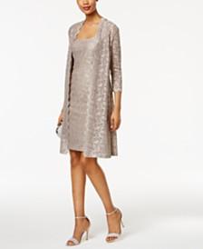 Alex Evenings Lace Sheath Dress And Jacket