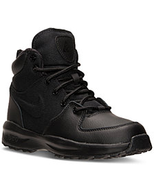 Nike Little Boys' Manoa Leather Textile Boots from Finish Line