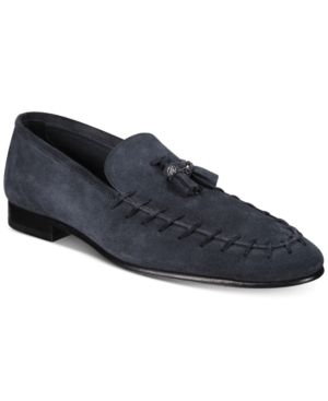 ebf0b85d015 Roberto Cavalli Men S Soft Suede Loafers Men S Shoes In Blue