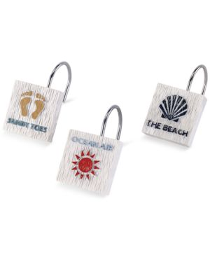 Avanti Beach Words Shower Hooks Bedding thumbnail