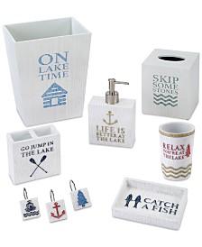 Avanti Lake Words Bath Accessories Collection