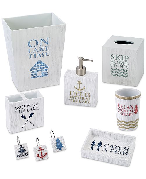 Avanti Lake Words Bath Accessories Collection