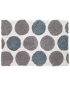 "Avanti Dotted Circle 20"" x 30"" Bath Rug"