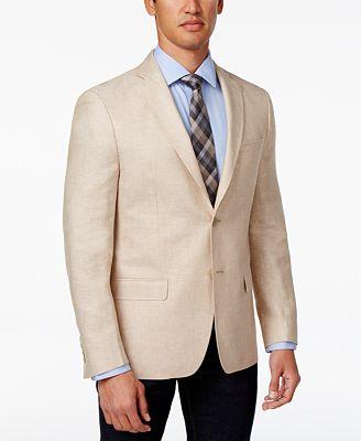 Calvin Klein Men's Slim-Fit Off-White Sport Coat - Blazers & Sport ...