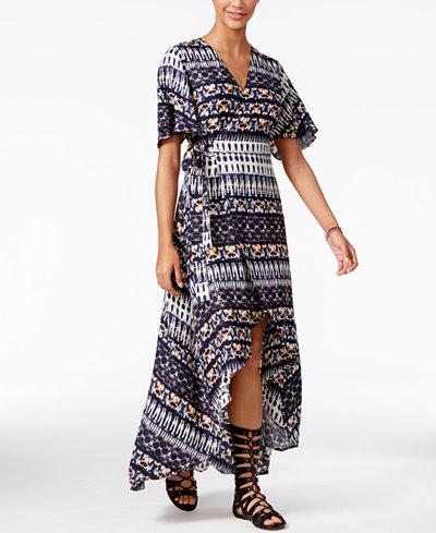 Jessica Simpson Printed High-Low Maxi Dress - Juniors Dresses - Macy's