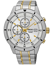 Seiko Men's Special Value Chronograph Two-Tone Stainless Steel Bracelet Watch 44mm SKS563