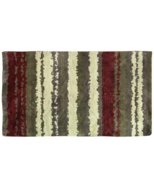 Bacova Cashlon Strata Red 20 x 32 Accent Rug Bedding