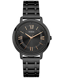 GUESS Women's Black Stainless Steel Bracelet Watch 40mm U0933L4
