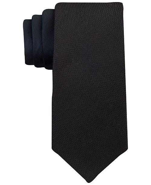 Calvin Klein Men's Pebble Tip Panel Slim Tie