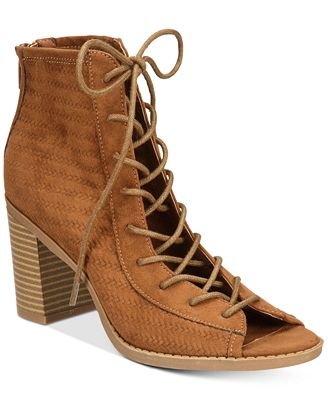 American Rag Sidni Lace-Up Booties, Created for Macy's
