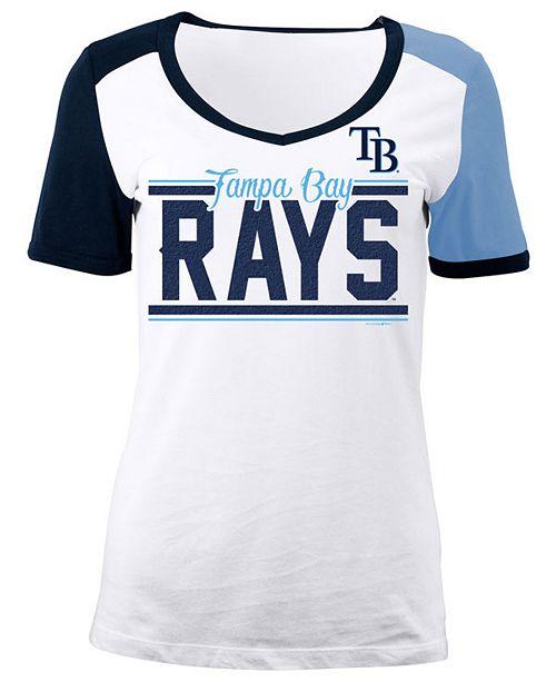 5th & Ocean Women's Tampa Bay Rays CB Sleeve T-Shirt