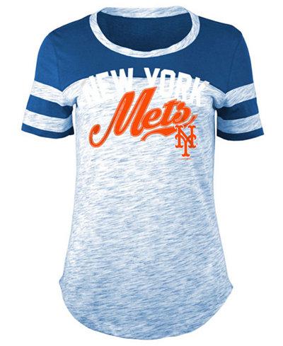 5th & Ocean Women's New York Mets Space Dye CB Yoke T-Shirt