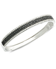 Caviar by EFFY Black (2-3/4 ct. t.w.) and White (1-7/8 ct. t.w.) Diamond Bangle in 14k White Gold